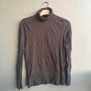 JCrew Tissue Turtleneck T-Shirt in Stripes